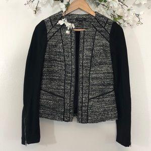 Ann Taylor Tweed Zip Up Jacket - 0
